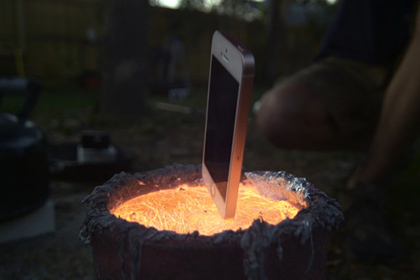 iPhone сварили в металле