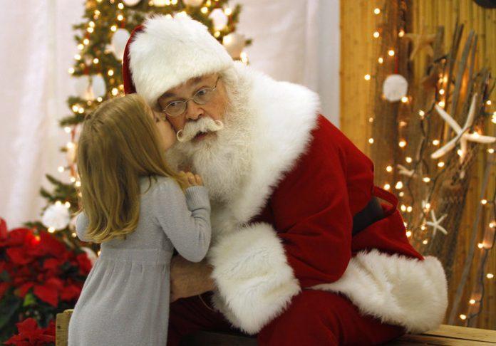 «Санта — ты потрясающий.»