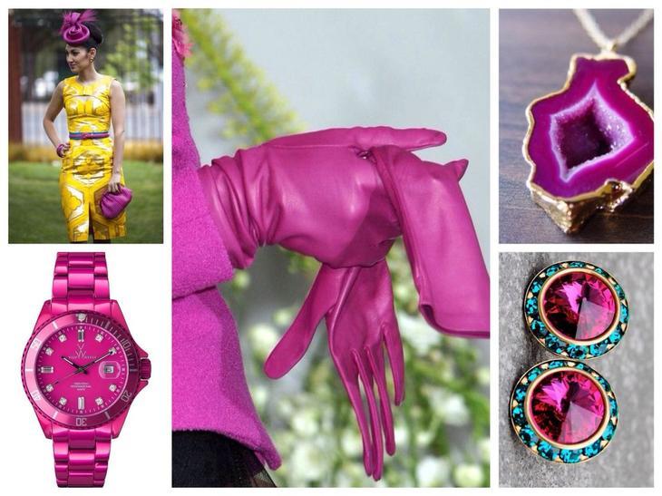 Аксессуары цвета фуксии — яркие дополнения к образу