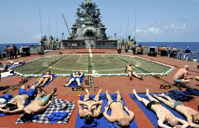Адмирал пояснил, почему русские матросы загорали при встрече с американцами