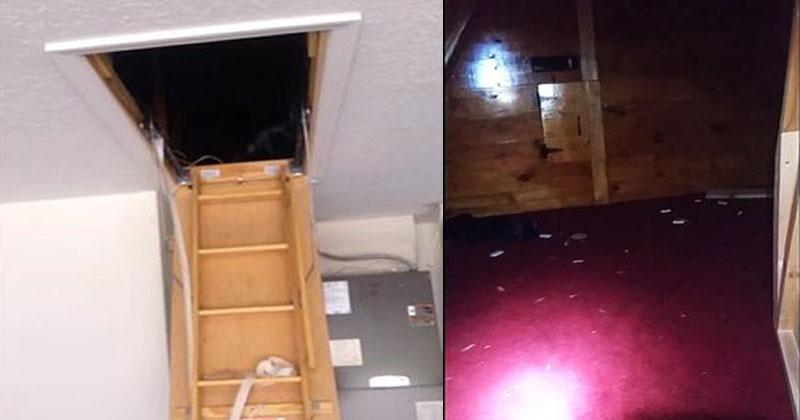 Рабочий делал ремонт и обнаружил в доме очень странную потайную комнату. Когда он открыл ее, ахнул от удивления