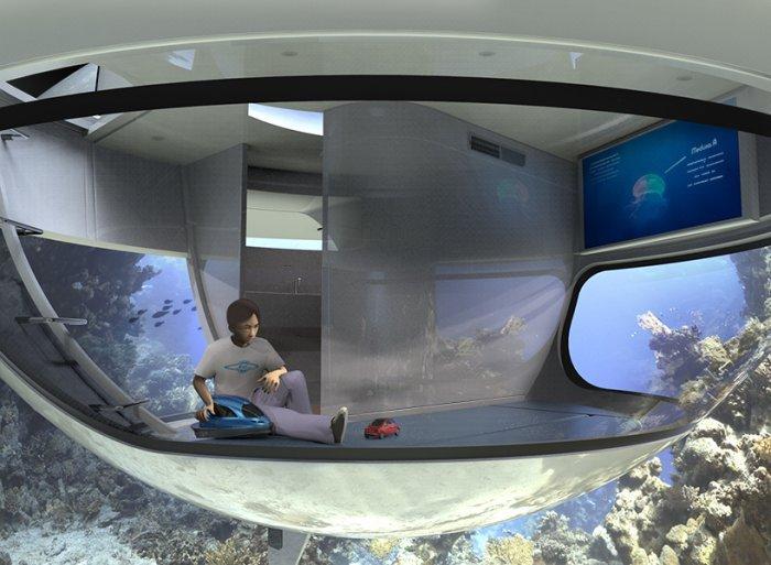 Концепт плавающего дома в форме НЛО (фото + видео)