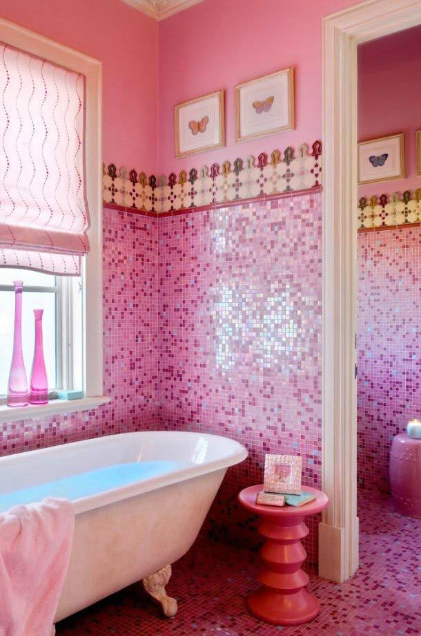 Фото ванных комнат с цветами