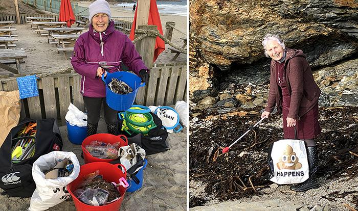 70-летняя женщина очистила 52 пляжа за год