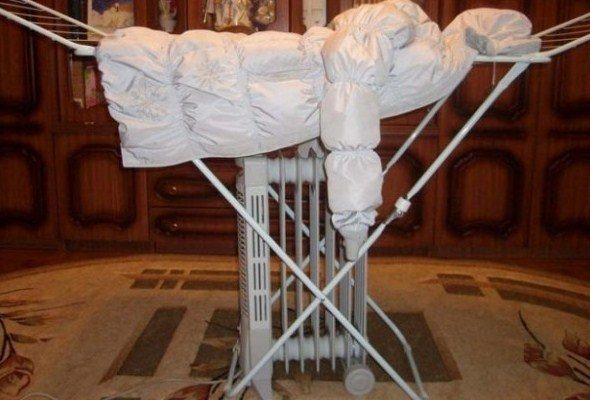 Можно ли сушить мембранную одежду на батарее