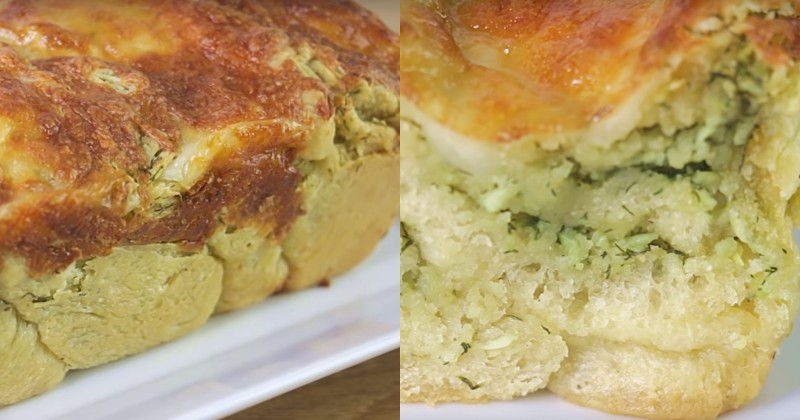 пирог с зеленью с сыром