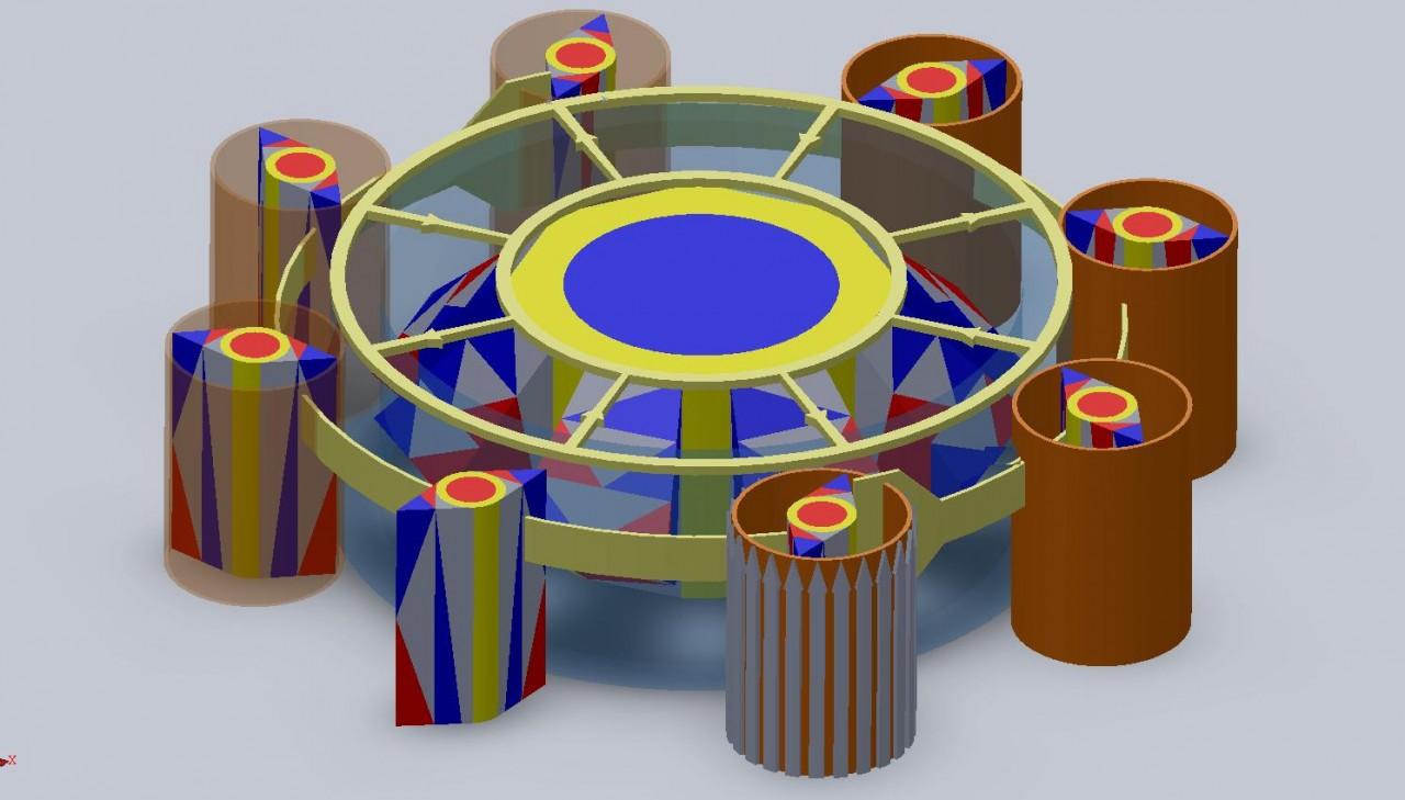 Схема двигателя на магнитах постоянных