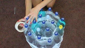 Фото пуфик из пластиковых бутылок своими руками пошагово для начинающих