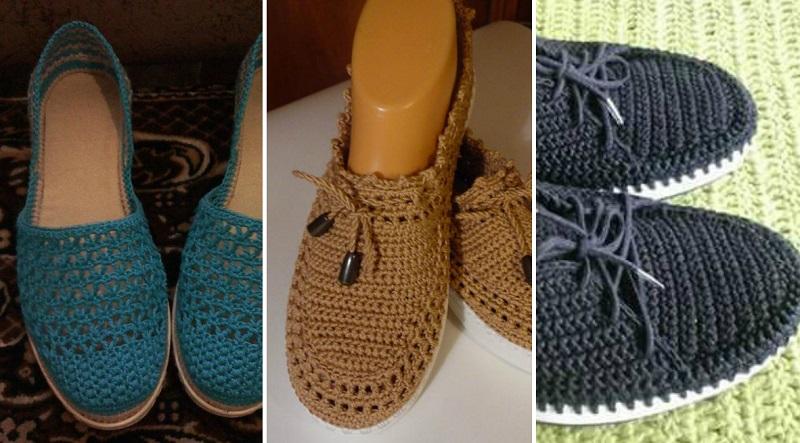 вязаная обувь спицами