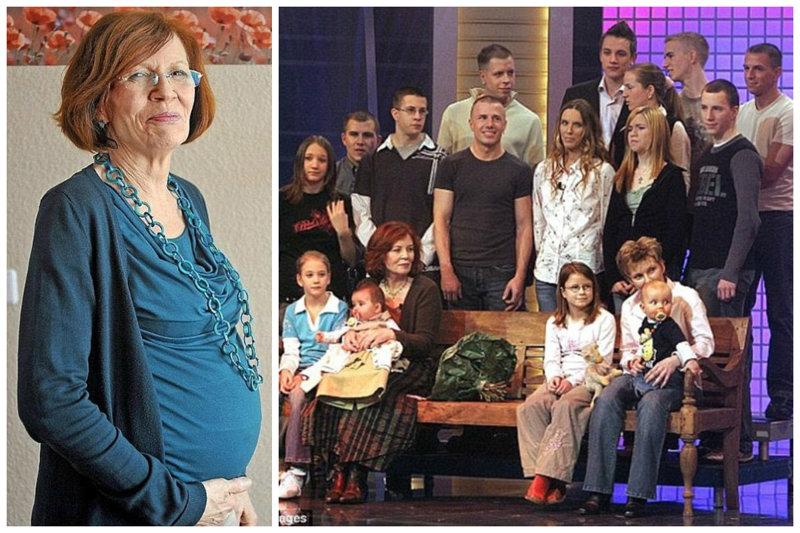 Женщина родила в 65 лет четверняшек, при уже имеющихся 13-ти детях