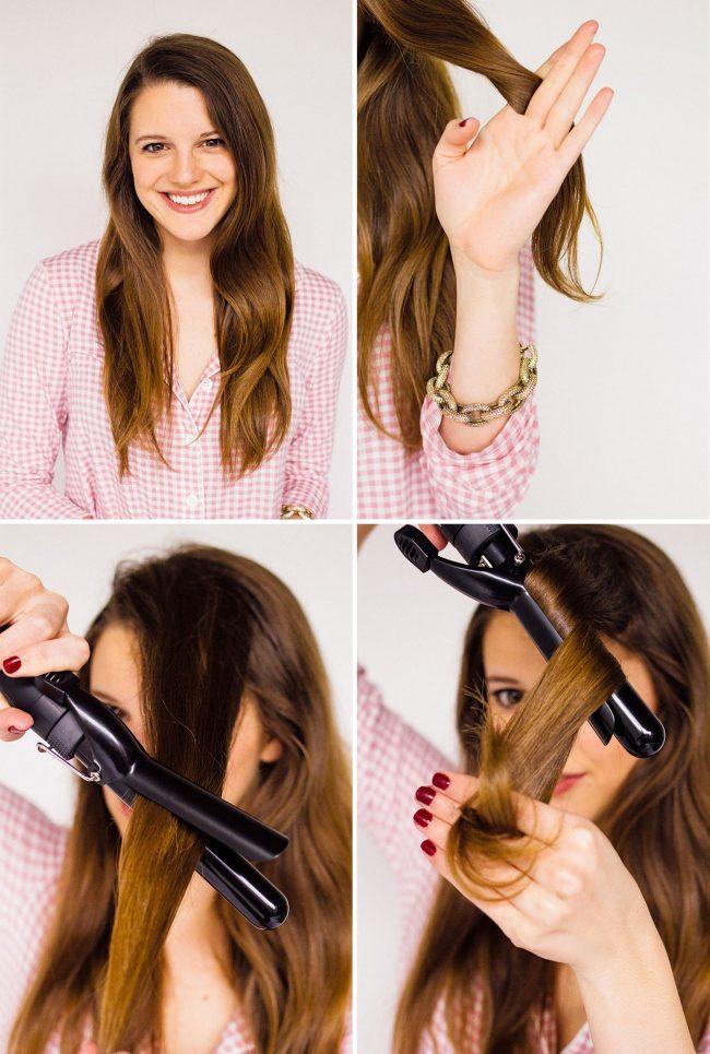 Как сделать большие локоны из волос 176