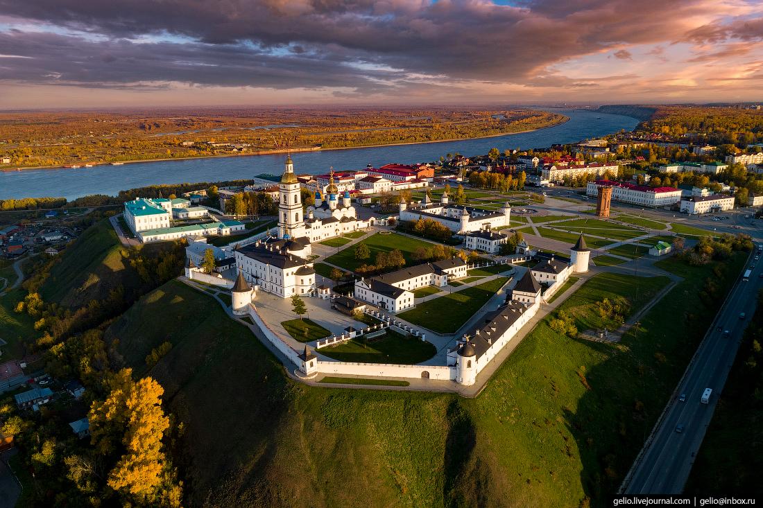Тобольск с высоты - бывшая столица Сибири