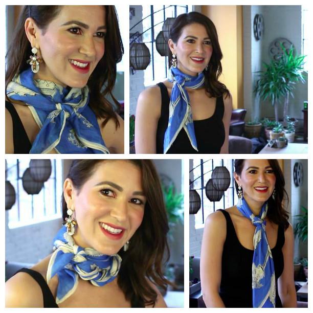 Шелковый платок снова в моде. 4 способа завязывать его как профессионал