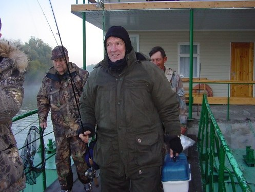 Актеры советского кино на рыбалке.