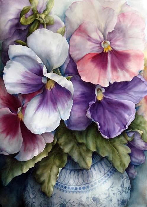 Какие прекрасные, жизнерадостные, сочные цвета —  восхитительные акварельные натюрморты Пэм Саквилл