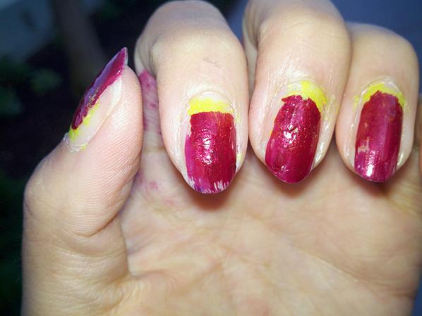 Неудачные ногти гель