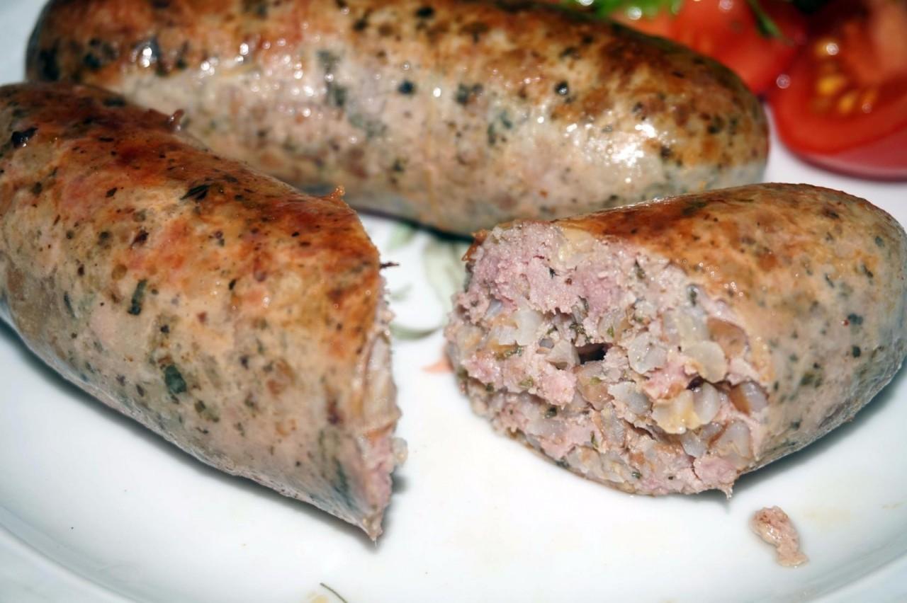 Колбаса домашняя с гречкой и без гречки