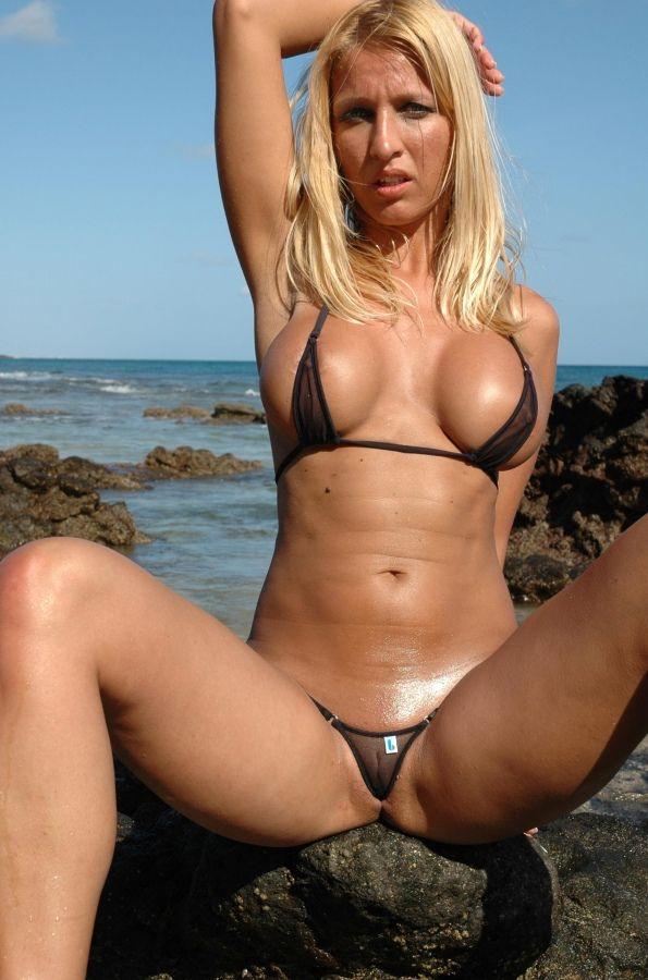 Hot bikini beach sex