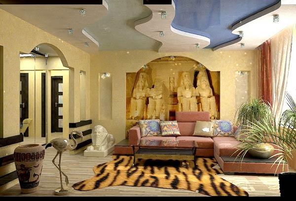 Египетский стиль в интерьере квартиры фото