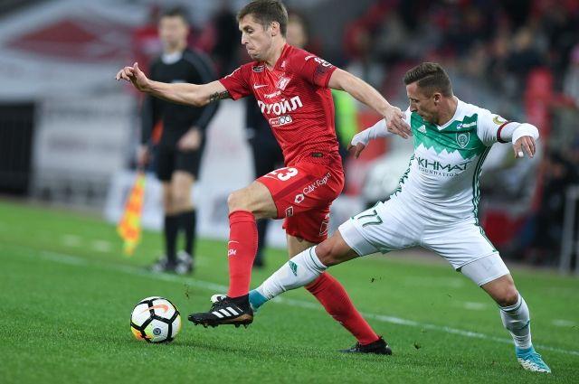 «Спартак» уступил «Ахмату» в домашнем матче чемпионата России по футболу