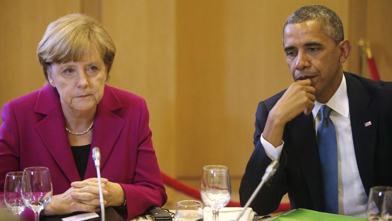 График, который Обама не хотел бы показывать Меркель