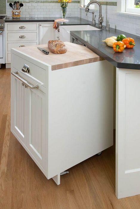 Мобильный кухонный остров + нижний шкаф.