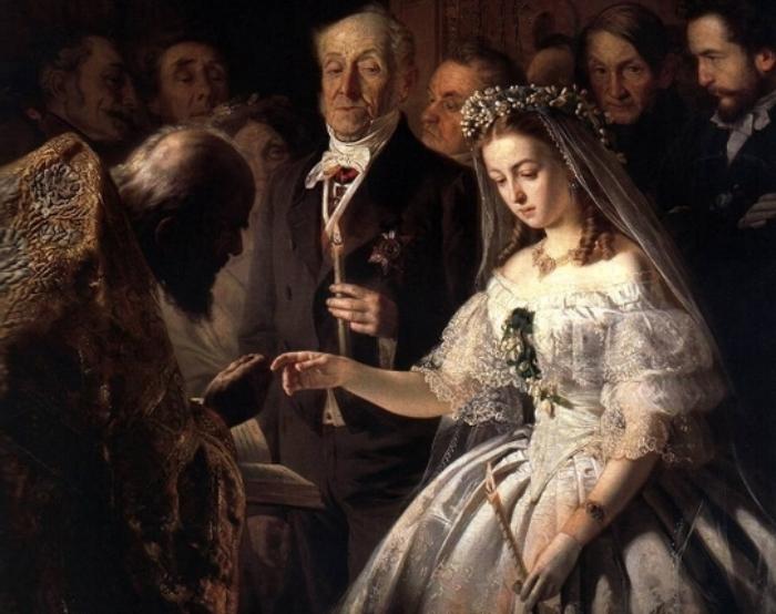 «Неравный брак» - странная картина, на которую не советуют смотреть женихам в возрасте
