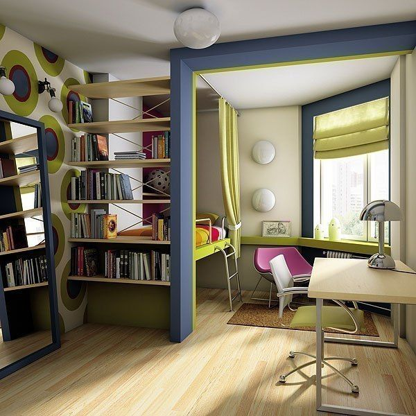 зонирование детской комнаты фото 3