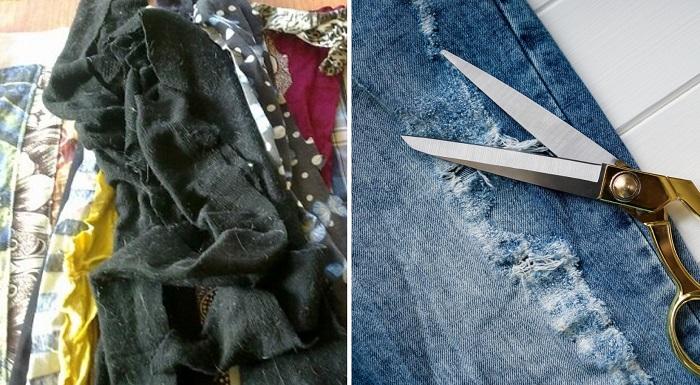 как сшить половик из старой одежды