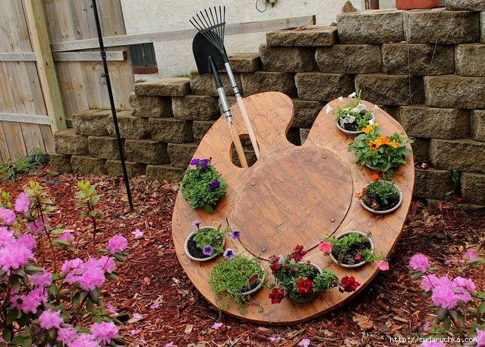 Дизайн сада своими руками: клумба-палитра