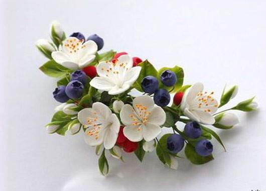 Фото заколки с цветами из фоамирана мастер класс
