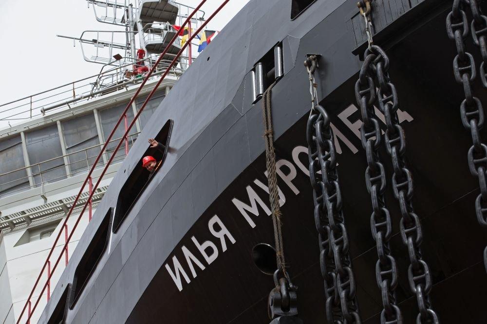 ВМФ России впервые передал на борт боевого ледокола карты по радио