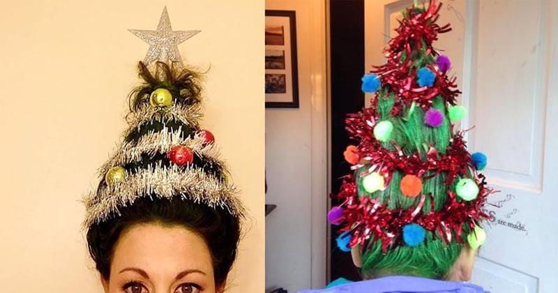 Рождественская ёлка на голове — безумный тренд, захвативший инстаграм