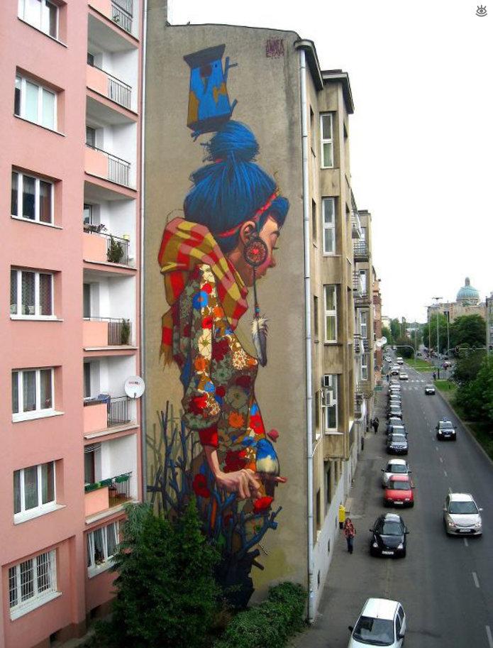 Яркие произведения искусства на зданиях (10 фото)