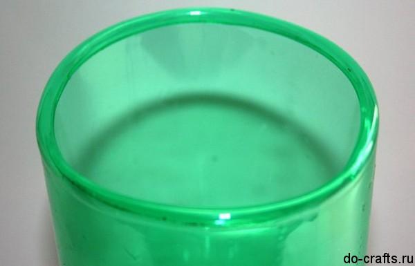 Как закруглить края пластиковой бутылки 3