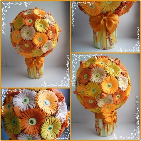 Мастер-класс Поделка изделие Квиллинг Мои цветочные шары и маленький МК запись пополняется Бумага фото 12