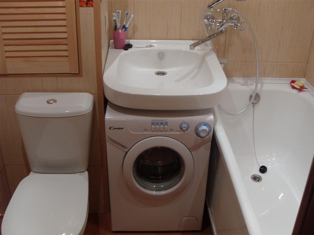Идея для очень маленькой ванной комнаты