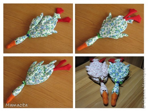 Сухая грелка + Массажные мешочки гуси-лебеди