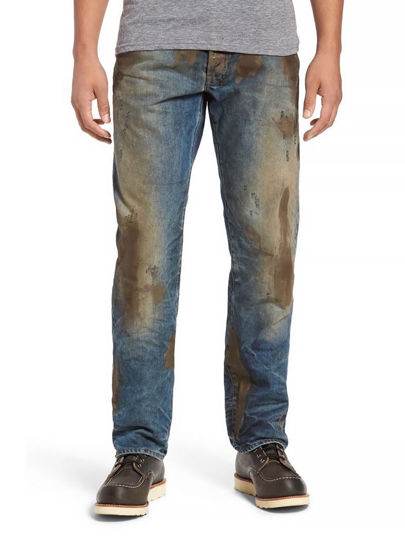 С рваными джинсами мы кое-как смирились. Но с грязными!