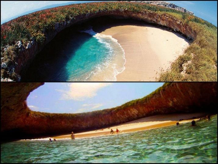 Плайя-дель-Амор – скрытый пляж острова Мариета, Мексика