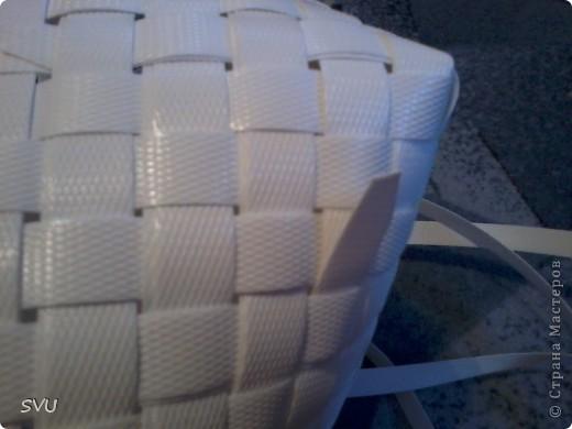 Мастер-класс Плетение Плетение корзинки из упаковочной полипропиленовой стреппинг ленты Полиэтилен фото 27