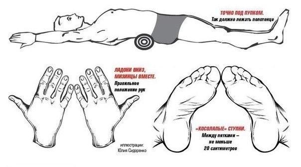 Как убрать живот и выпрямить спину. Размещаю еще раз