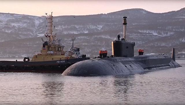 Атомный подводный крейсер «Александр Невский» вернулся с боевой службы