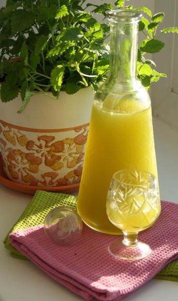 Бальзам-дижестив с лимоном и базиликом