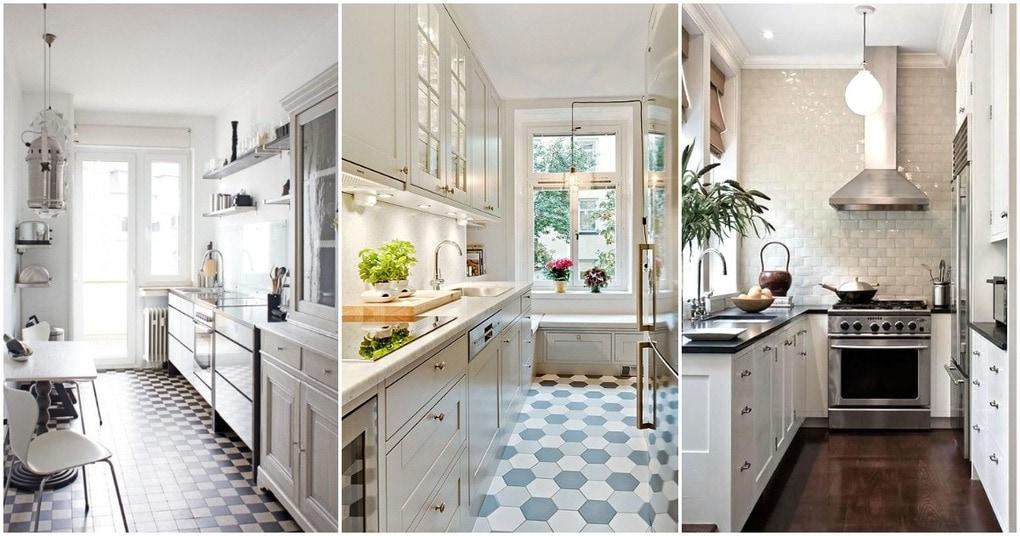Стильный и функциональные идеи дизайна узкой кухни