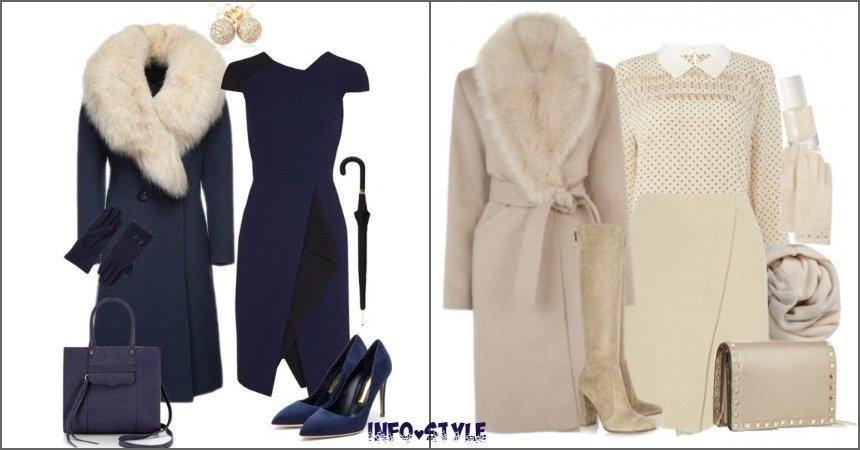 Пальто с мехом: 10 модных и стильных look`ов