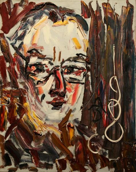 Фото Анатолий Зверев.Портрет художника Н.Вечтомова.1986 г.
