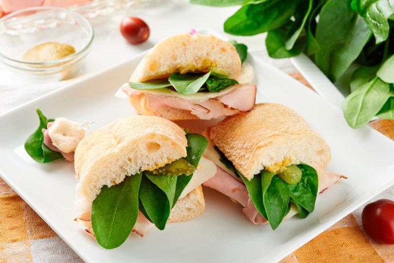 Изображение рецепта Сэндвич с ветчиной и шпинатом