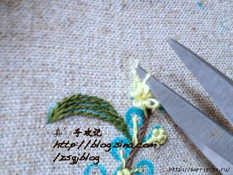 Объемная вышивка. Ромашки, одуванчики, хризантемы и мимоза (21) (460x345, 112Kb)