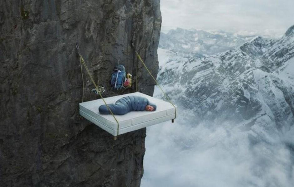 Как спят скалолазы